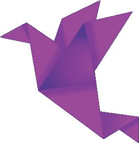 Dark Pink Paper Crane