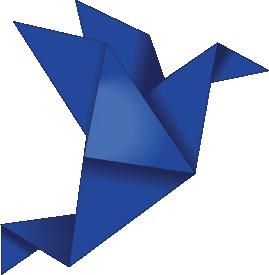 Dark blue Paper Crane